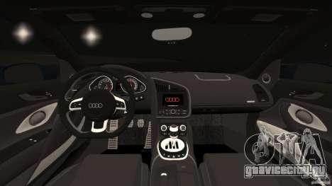 Audi R8 5.2 Stock Final для GTA 4 вид сзади