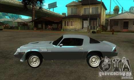 Chevrolet Camaro Z28 1979 для GTA San Andreas вид слева