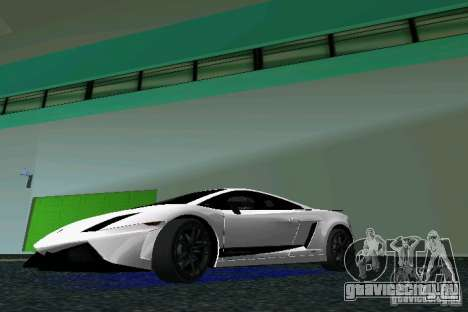 Lamborghini Gallardo LP570 SuperLeggera для GTA Vice City вид слева