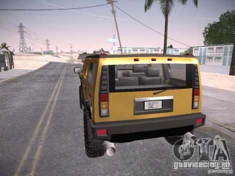Hummer H2 для GTA San Andreas вид слева