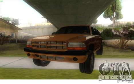 Dodge Durango 1998 для GTA San Andreas вид сзади слева