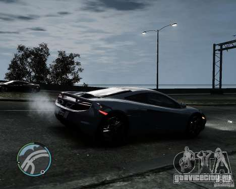 McLaren MP4-12C [EPM] 2011 для GTA 4 вид сзади слева