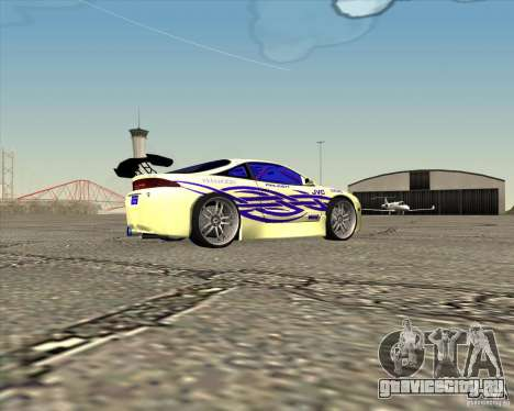Mitsubishi Eclipse street tuning для GTA San Andreas вид слева