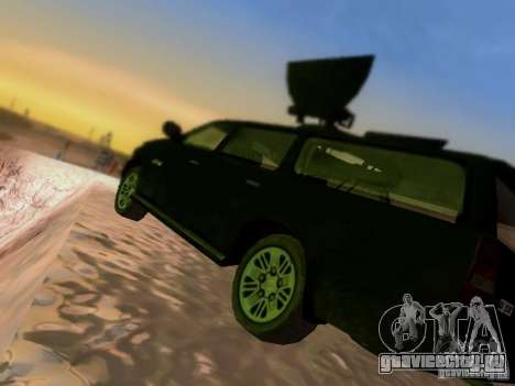 Suv Call Of Duty Modern Warfare 3 для GTA San Andreas вид снизу