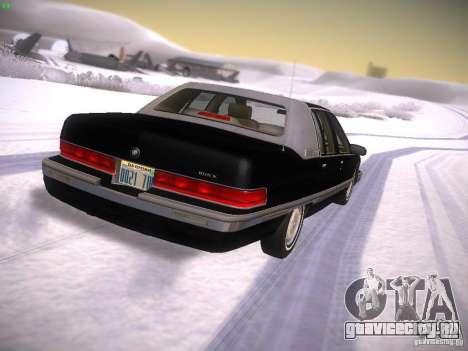 Buick Roadmaster 1996 для GTA San Andreas вид сзади слева