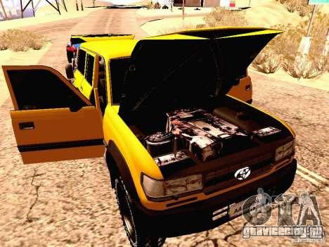 Toyota Land Cruiser 80 Off Road Rims для GTA San Andreas вид сзади
