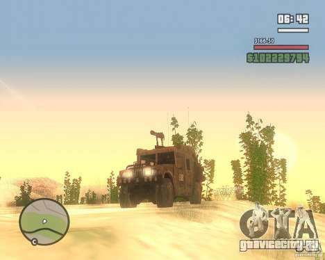 Hummer H1 из COD MW 2 для GTA San Andreas вид сзади