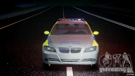 BMW 350i Indonesian Police Car [ELS] для GTA 4 вид снизу