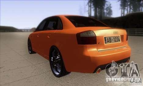 Audi S4 DIM для GTA San Andreas вид сзади слева