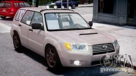 Subaru Forester v2.0 для GTA 4 вид изнутри