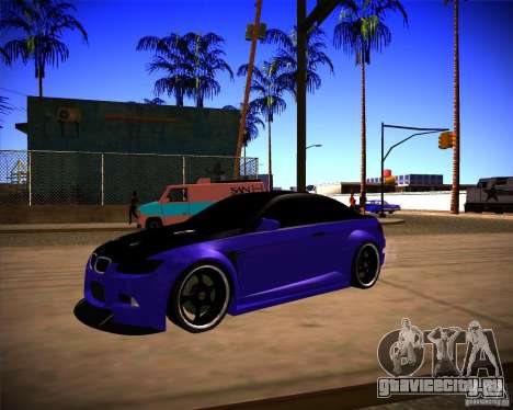 BMW M3 E92 Drift Version для GTA San Andreas вид сзади слева