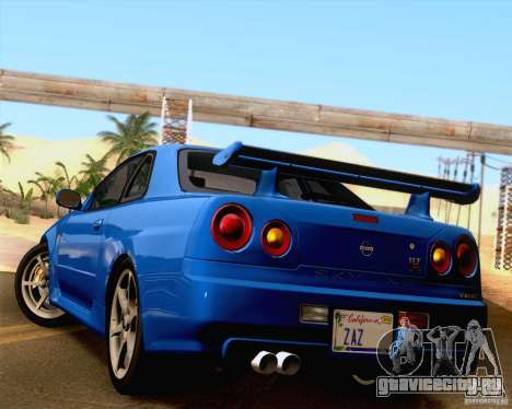Nissan Skyline R34 для GTA San Andreas вид слева