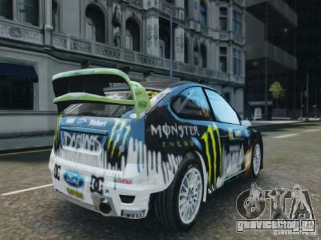 Ford Focus RS WRC для GTA 4 вид слева