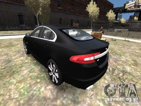 Jaguar XFR для GTA 4 вид сзади слева