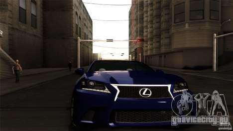 Lexus GS350F Sport 2013 для GTA San Andreas вид сзади слева