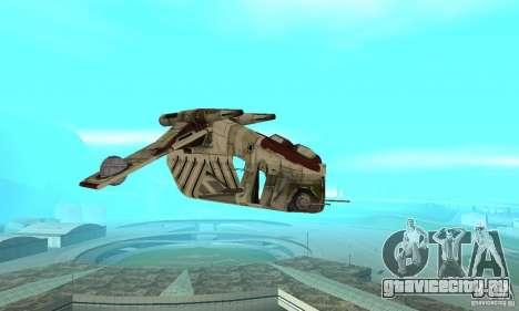 Republic Gunship из Star Wars для GTA San Andreas вид сзади