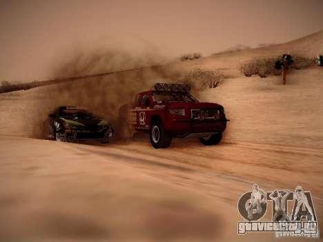 Honda Ridgeline Baja для GTA San Andreas вид изнутри