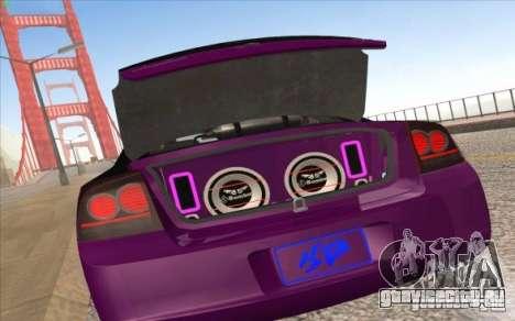 Dodge Charger SRT 8 для GTA San Andreas вид сзади слева