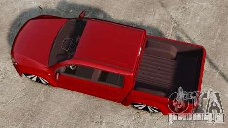 Volkswagen Amarok 2.0 TDi AWD Trendline 2012 для GTA 4 вид справа