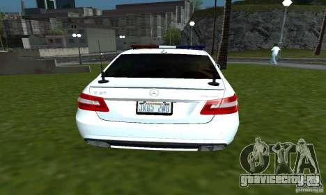 Mercedes-Benz E63 ДПС для GTA San Andreas вид сзади слева