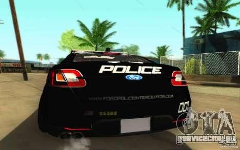 Ford Taurus 2011 LAPD Police для GTA San Andreas вид справа