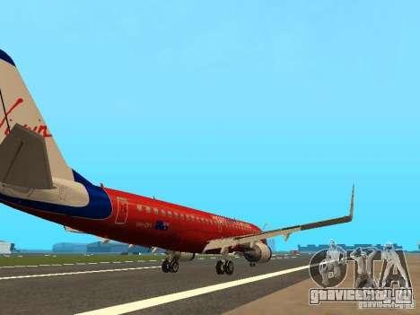 Embraer ERJ 190 Virgin Blue для GTA San Andreas вид справа
