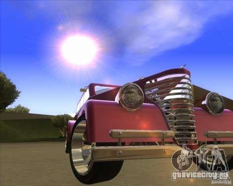 Custom Woody Hot Rod для GTA San Andreas вид сзади