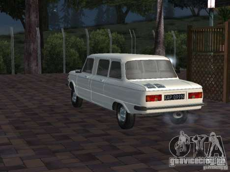 ЗАЗ 968М Лимузин для GTA San Andreas вид сзади