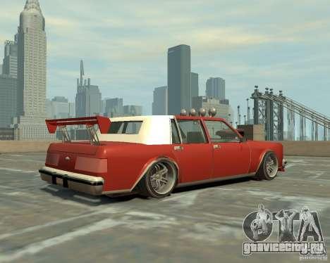 Greenwood Tuned из San Andreas для GTA 4 вид справа
