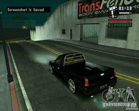 VW Saveiro G4 1.8 для GTA San Andreas вид сзади слева