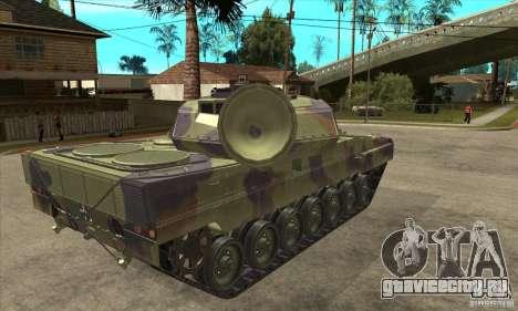 Leopard 2 A6 для GTA San Andreas вид справа
