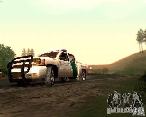 Chevrolet Silverado Police для GTA San Andreas вид снизу
