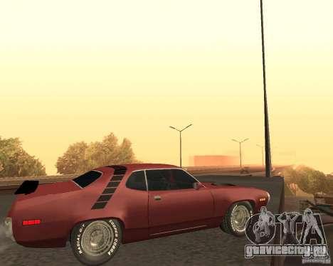 Plymouth Roadrunner для GTA San Andreas вид сзади