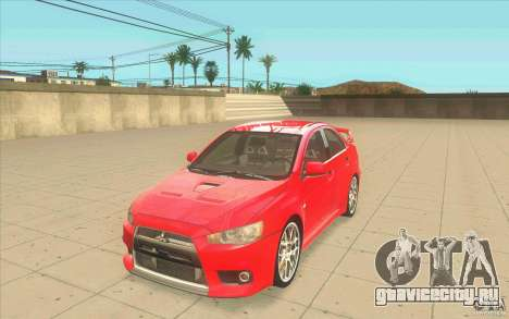 Mitsubishi Lancer Evolution X MR1 для GTA San Andreas