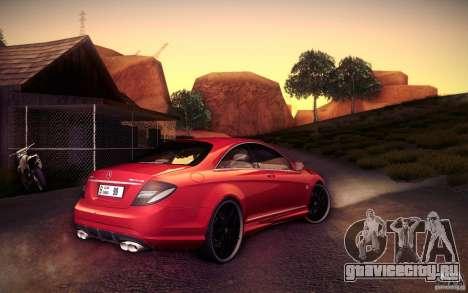 Mercedes Benz CL65 AMG для GTA San Andreas вид сзади