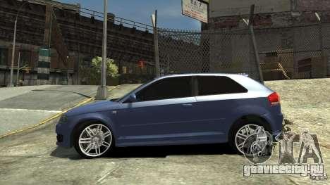 Audi S3 2006 v1.1 тонированая для GTA 4 вид слева