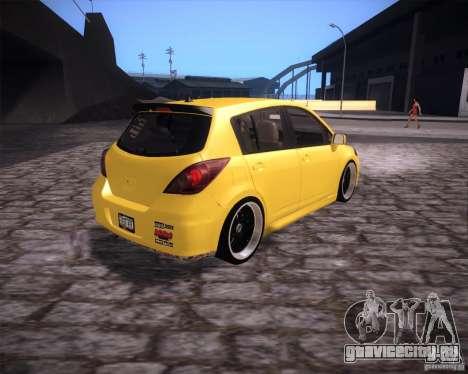 Nissan Versa Tuned для GTA San Andreas вид сзади слева
