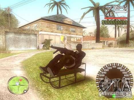 Сани для GTA San Andreas вид сзади