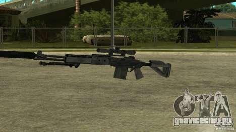 MK14 EBR с глушителем для GTA San Andreas четвёртый скриншот