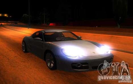 Porsche Cayman S для GTA San Andreas вид изнутри