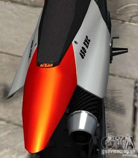 KTM EXC 450 для GTA 4 вид сбоку