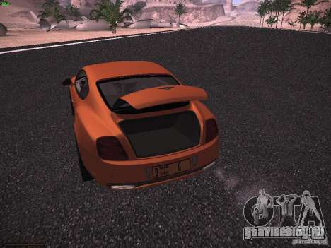 Bentley Continetal SS Dubai Gold Edition для GTA San Andreas вид сбоку