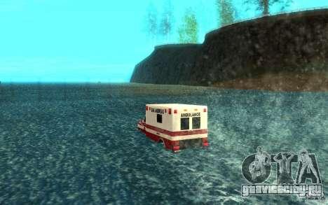 Ambulan boat для GTA San Andreas вид сзади слева