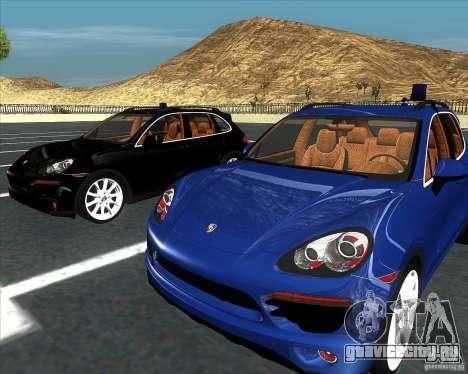 Porsche Cayenne 958 v1.1 для GTA San Andreas вид сзади слева