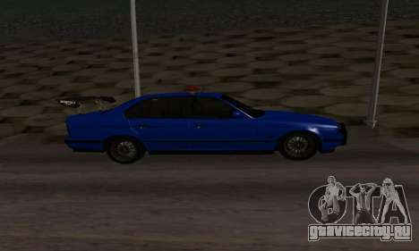 BMW M5 POLICE для GTA San Andreas вид слева