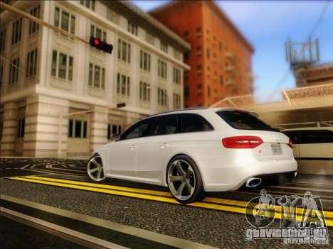Audi RS4 Avant B8 2013 для GTA San Andreas вид сзади слева