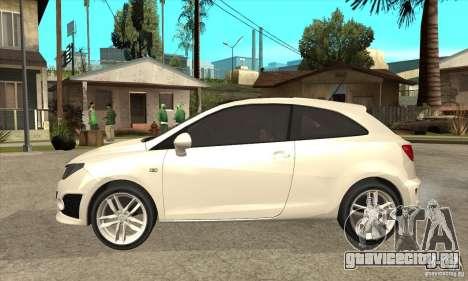 Seat Ibiza Cupra 2009 для GTA San Andreas вид слева