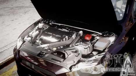 Mitsubishi Lancer X для GTA 4 вид сверху