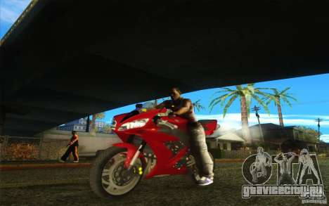 Yamaha YZF R1 Tuning Version для GTA San Andreas вид сзади слева