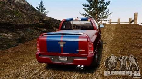 Dodge Ram SRT-10 2006 EPM для GTA 4 вид сзади слева